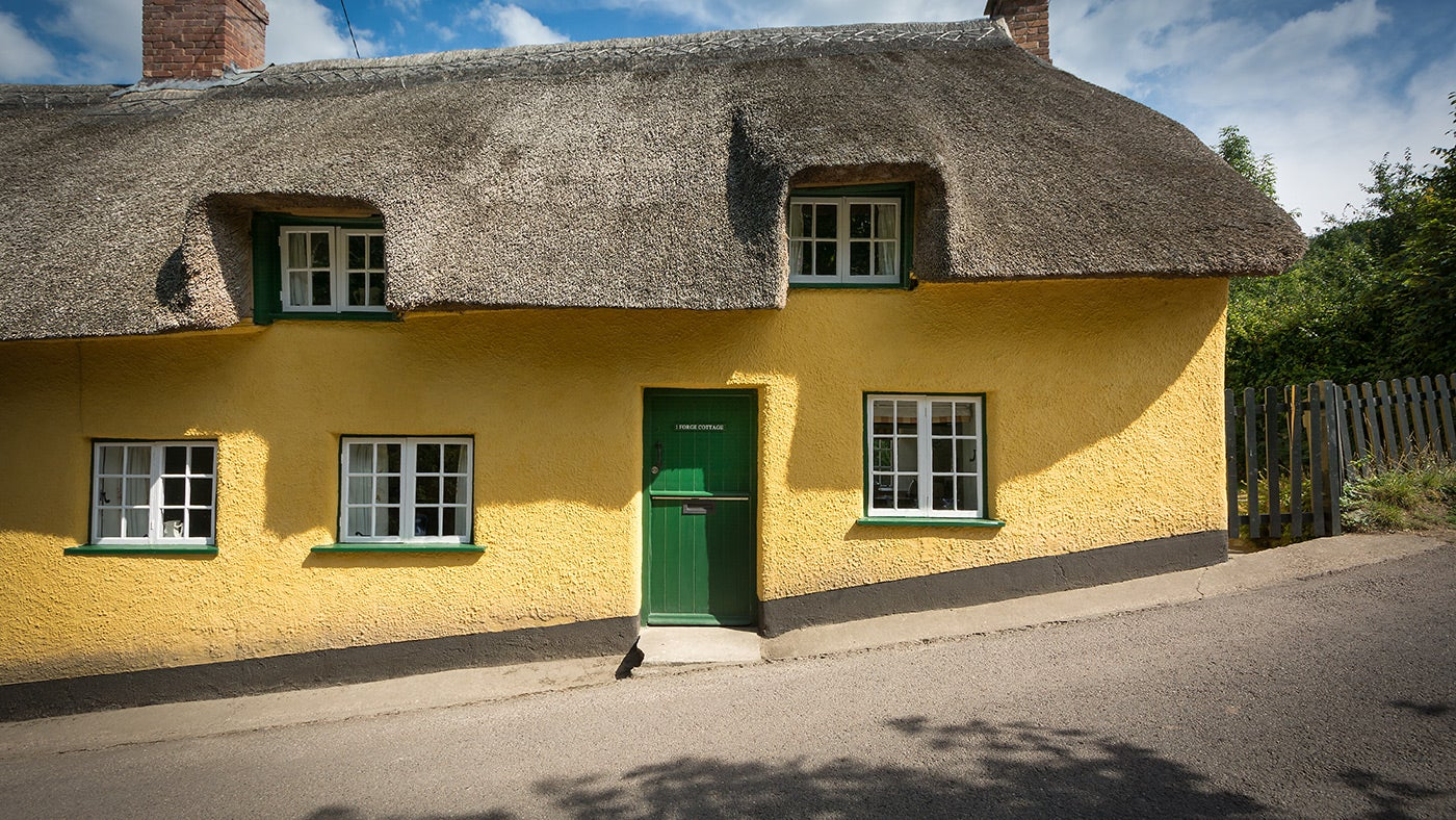 The exterior of Forge Cottage, Branscombe, Devon