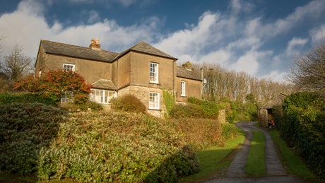 The exterior of Gwendra Wartha, Roseland, Cornwall