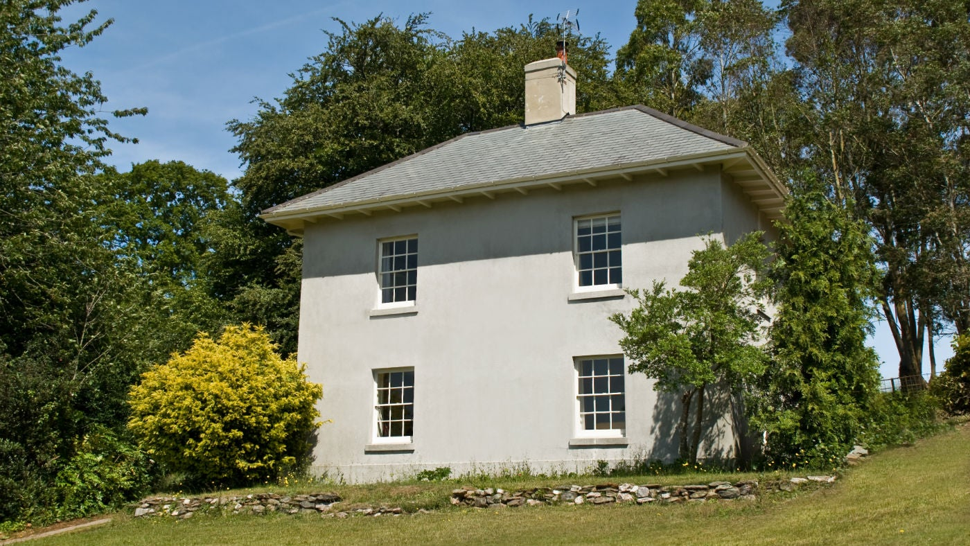 Exterior frontage of South Lodge, Greenway, Devon