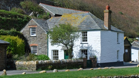 The exterior of Harbour View, Boscastle, Cornwall