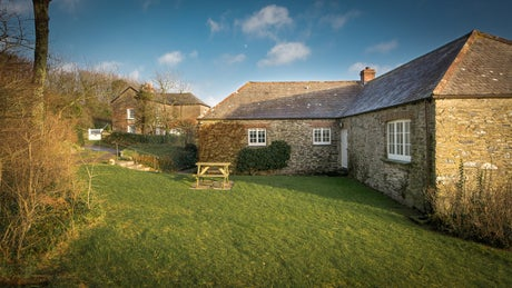 The exterior of Hayloft, Roseland, Cornwall