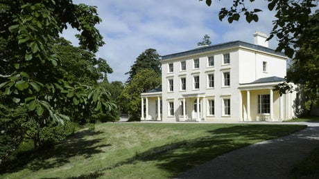 The exterior of Greenway House, Galmpton, near Brixham, Devon