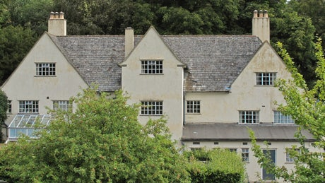 The charming front view of The Chauffeur's Flat, Coleton Fishacre, Devon
