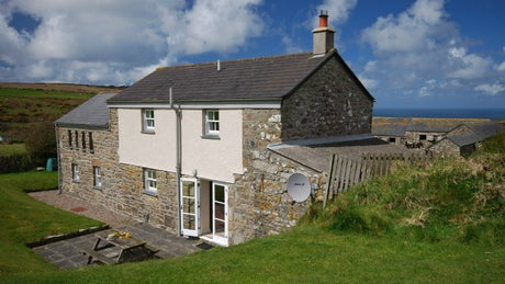 The exterior of Honor's House, Zennor, Cornwall
