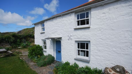 The exterior of Lacombe Cottage, Port Quin, Port Isaac, Cornwall