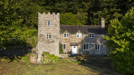 The exterior of Malt House, Cotehele, Cornwall