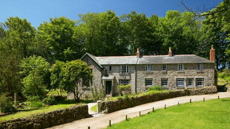 The exterior of Nanceglos House, Penzance, Cornwall