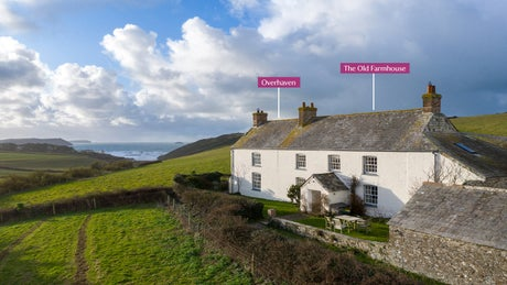 The exterior of Overhaven and The Old Farmhouse, Polzeath, Cornwall