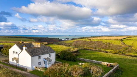 The exterior and surrounding area of Trescore, nr Padstow, Cornwall