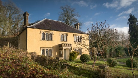 The exterior of Lower Lodge, Newark Estate, Wotton Under Edge, Gloucestershire