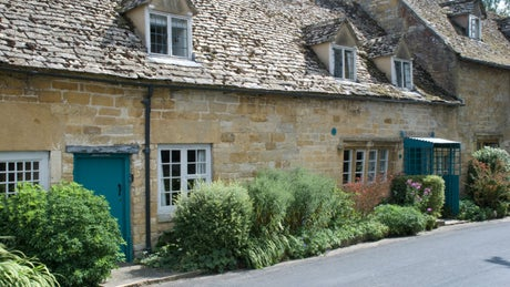 The exterior of Spring Cottage, Snowshill, nr Broadway, Gloucestershire
