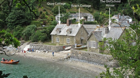 The exterior of Quay Cottage, Durgan, Mawnan Smith, Falmouth, Cornwall