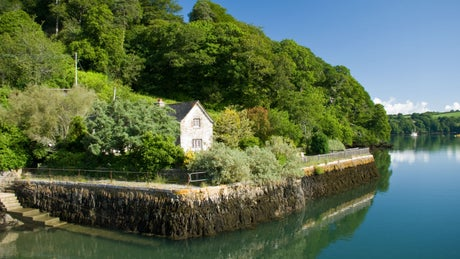 The exterior of Quay Cottage, Trelissick, Truro, Cornwall