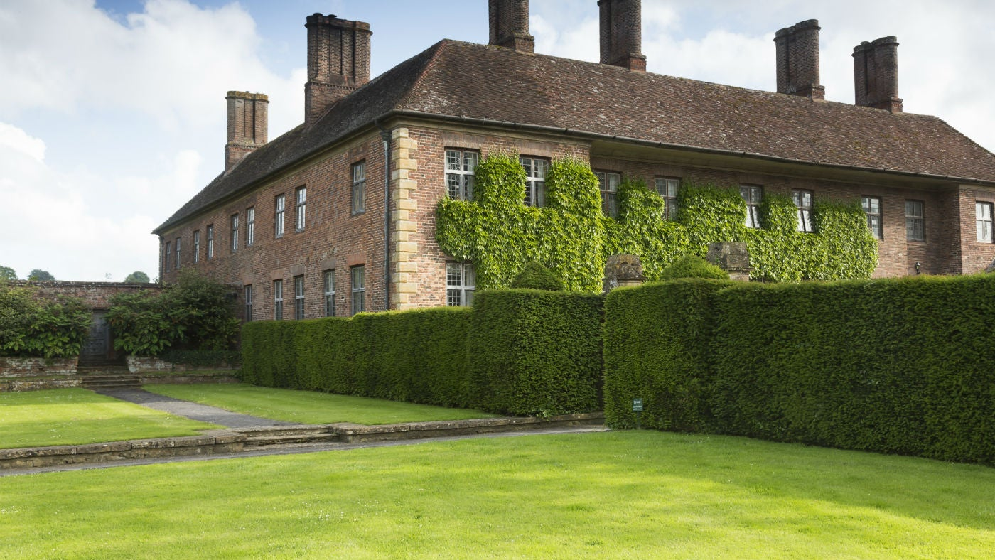 The exterior of 1 Strode House, Barrington Court, Yeovil, Somerset