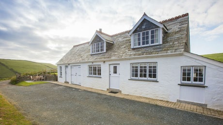 The exterior of Stable Cottage, Port Quin, Cornwall