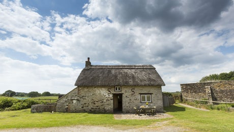 The exterior of The Bakehouse, Middlebere Farm, Purbeck, Dorset