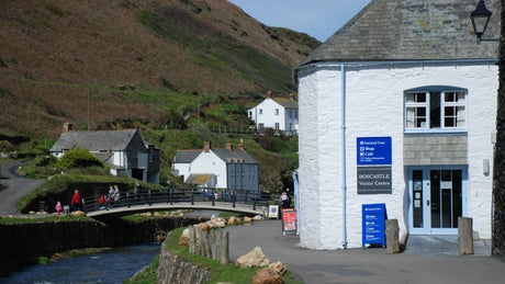 The building which is home to The Lugger, The Clinker and The Gaffer, Boscastle, Cornwall