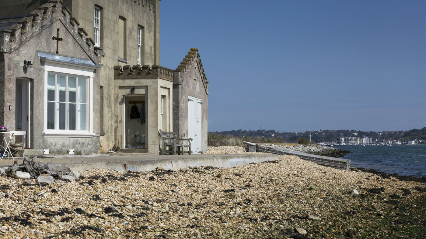 The exterior of Custom House, Brownsea Island, Dorset