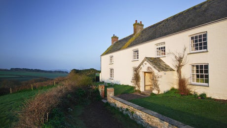 The exterior of The Old Farmhouse, Polzeath, Cornwall