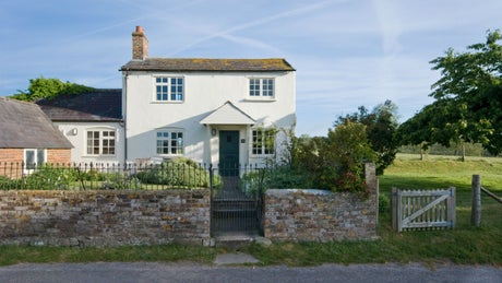 The exterior of Fishlocks Cottage, Avebury, Wiltshire