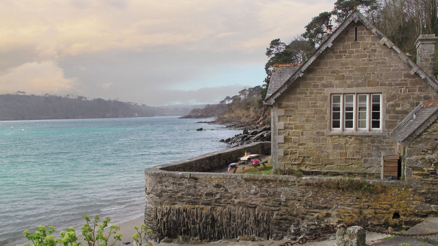 The exterior of The Old School House, Durgan, Falmouth, Cornwall