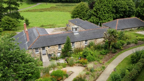 An elevated view of The Stables, Helston, Cornwall