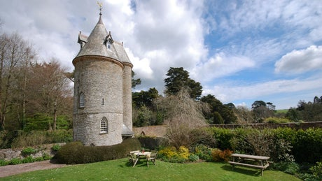 The exterior of The Water Tower, Trelissick, Cornwall