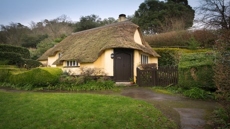 The exterior of Ivy's Cottage, Selworthy Green, Minehead, Somerset
