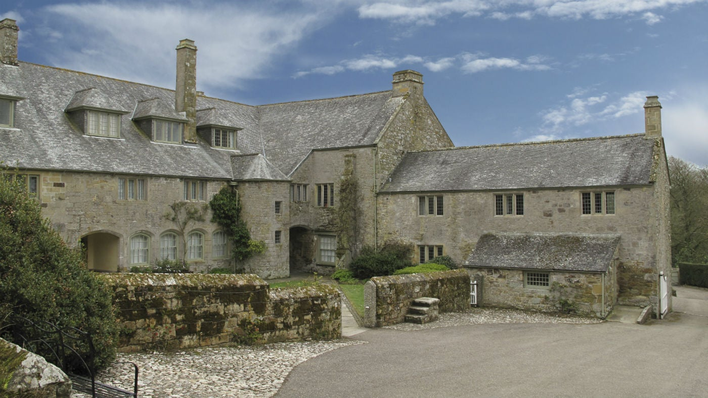 The exterior of The West Wing, Trerice, Cornwall