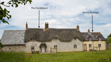 Exterior frontage of North Cottage, Purbeck, Dorset