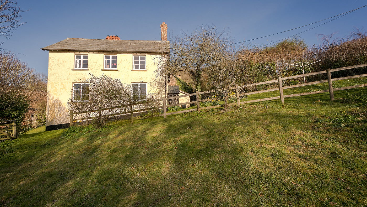 The exterior of Troytes Farmhouse, Minehead, Somerset