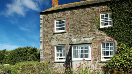 The exterior of West Cottage, Polzeath, Cornwall