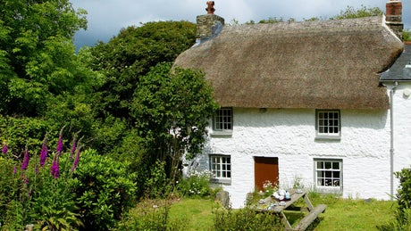 The exterior and garden at Whitstone Cottage, Penrose, Helston, Cornwall