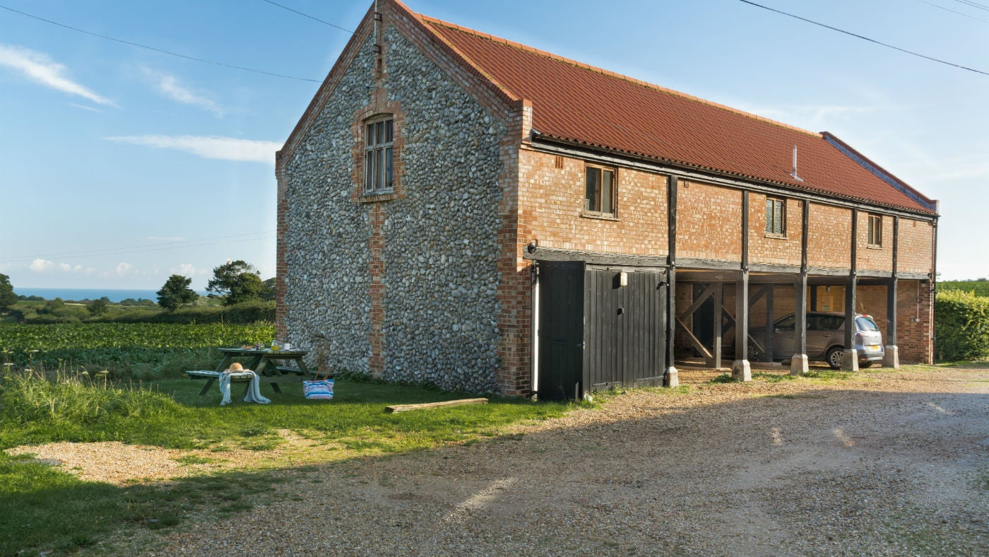 The grand exterior of 3 Cart Lodge Barn, Upper Sheringham, Norfolk