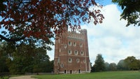 Autumn leaves at Tattershall Castle