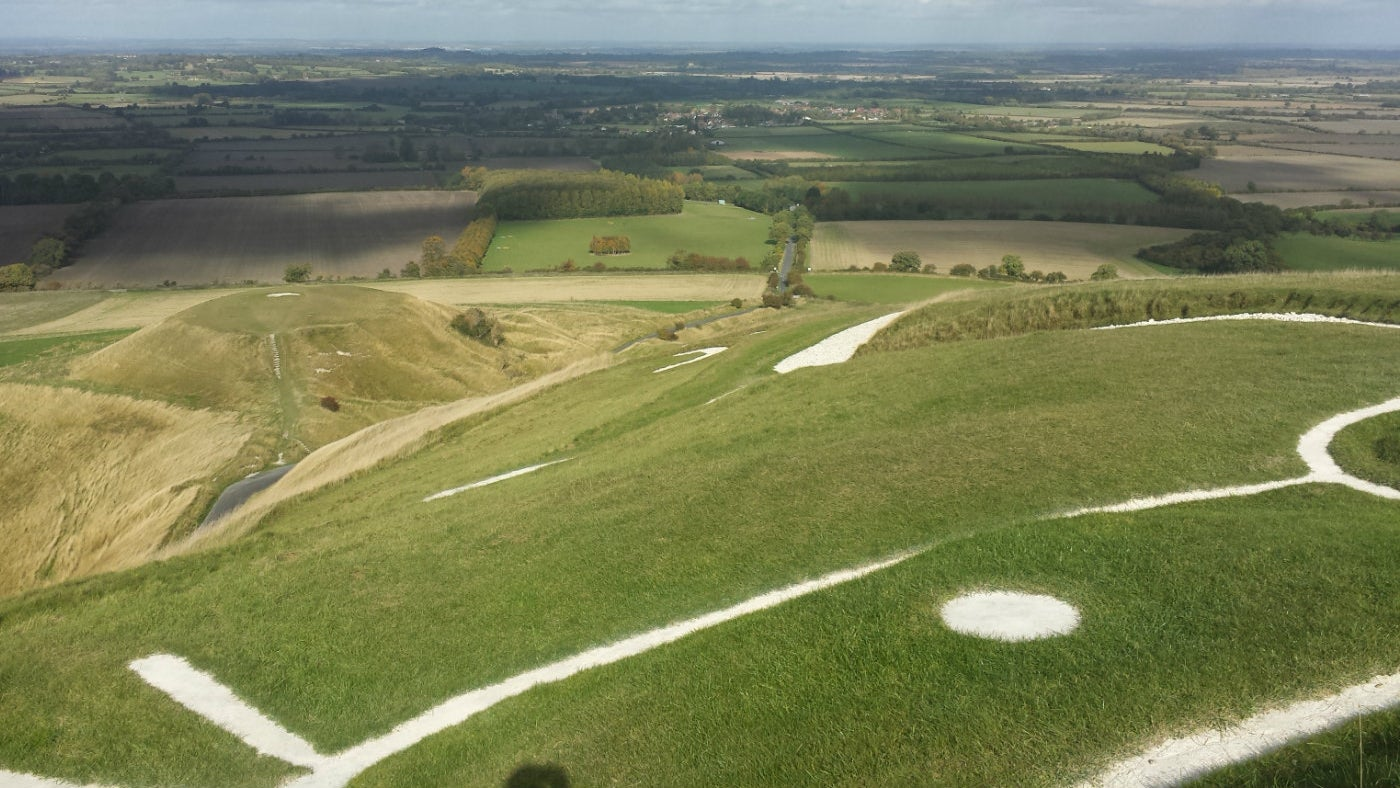 View from White Horse Hill Oxfordshire