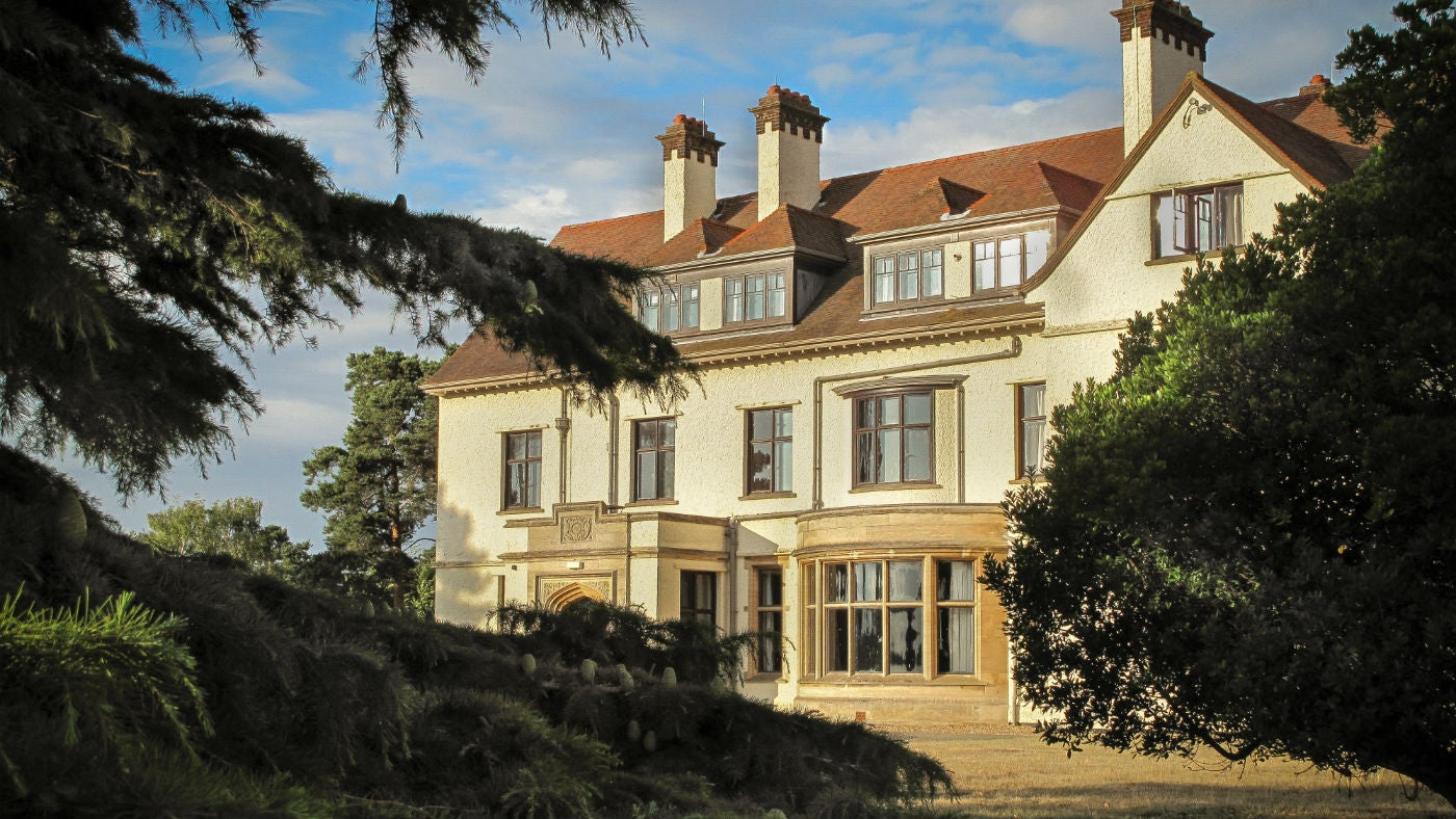 The grand exterior of Tranmer House, Deben View, nr Woodbridge, Suffolk