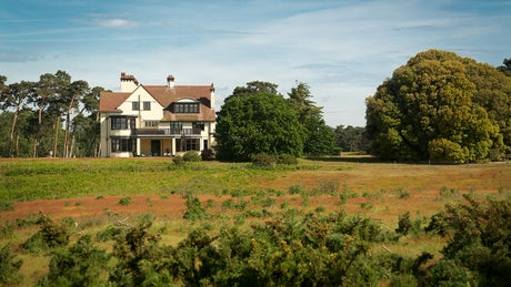 The extensive exterior of Tranmer House, Deben View, nr Woodbridge, Suffolk