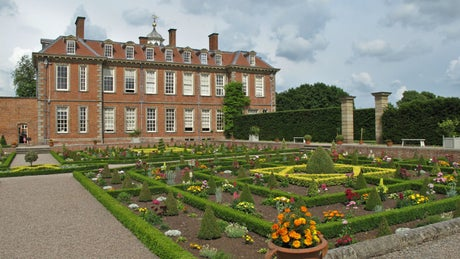 The exterior of Hanbury Hall, Droitwich, Worcestershire