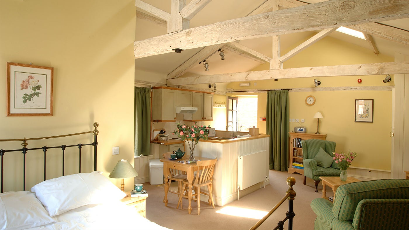 Interior open plan of Stable Apartment, Cromer, Norfolk