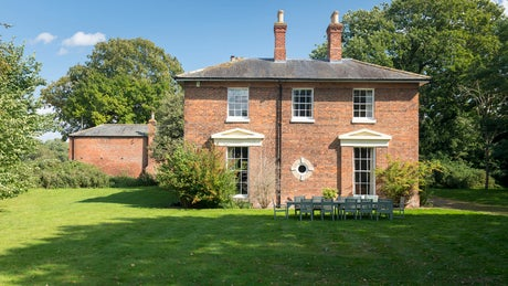 The pretty exterior of The Old Rectory, nr Skegness, Lincolnshire