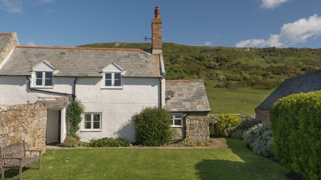 The exterior of Knowles Farm Cottage, nr Ventnor, Isle of Wight