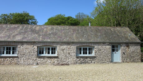 Exterior of Byre 1 on the Stackpole Estate, Pembroke, South Wales