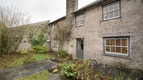 The stone exterior at 3 Courtyard Cottage, Kendal, Cumbria