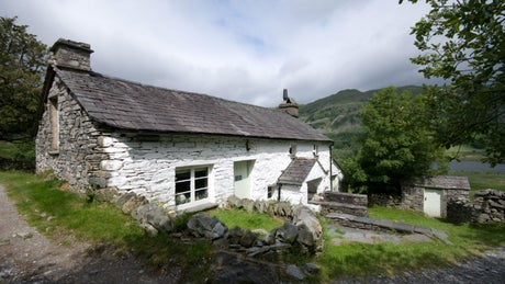 The exterior of High Hallgarth, nr Coniston, Lake District, Cumbria
