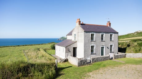 Exterior of Castell Farmhouse, Fishguard, Pembrokeshire