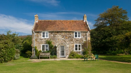 The exterior of Rose Cottage, Mottistone, Isle of Wight