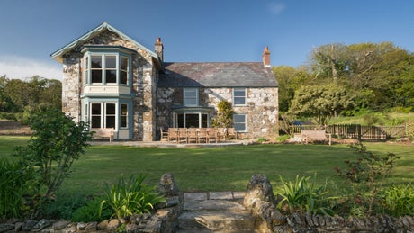 The exterior of Mottistone Manor Farmhouse, Mottistone, Isle of Wight