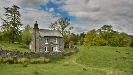 The exterior of Rose Castle Cottage, Coniston, Lake District, Cumbria