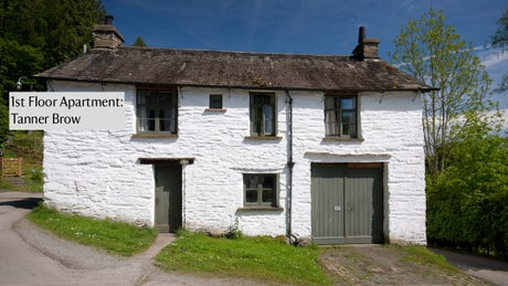 The building that is home to Tanner Brow, Hawkshead, Lake District, Cumbria